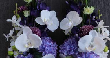 長野 松本 プリザーブドフラワー オーダー 通販 教室 仏花 お供え花 偲ぶ花 ドーム型
