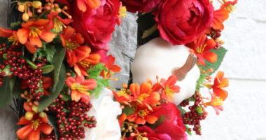長野 松本 フラワー教室 magiq 東京堂 フェアリール アーティフィシャルフラワー 高級造花 リース オーダー レッスン ハロウィン