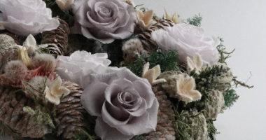 長野 松本 フラワー教室 magiq 東京堂 フェアリール アーティフィシャルフラワー 高級造花 リース オーダー レッスン クリスマスリース