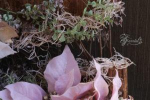 長野 松本 フラワー教室 magiq 東京堂 フェアリール 壁掛け 高級造花 クリスマス レッスン オーダー ウェルカムフラワー