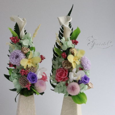 長野 松本 フラワー教室 フェアリール プリザーブドフラワー 教室 レッスン お供え花 フューネラルふらあわー 偲ぶ花