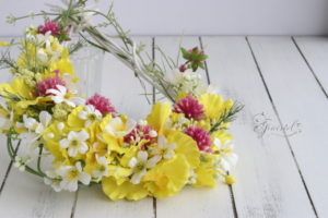 長野 松本 フラワー教室 magiq 東京堂 フェアリール アーティフィシャルフラワー 高級造花 リース